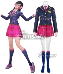 Overwatch OW Dva Hana Song Academy D․Va Cosplay Costume