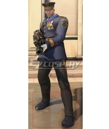 Overwatch OW Formal Uniform Soldier 76 Black Cosplay Cosplay Shoes