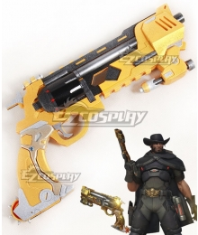 Overwatch OW Jesse McCree Blackwatch Gun Cosplay Weapon Prop