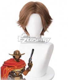 Overwatch OW Jesse McCree Brown Cosplay Wig - 419L