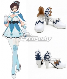 Overwatch OW Magical Girl Mei White Cosplay Shoes
