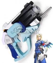 Overwatch OW Mercy Combat Medic Ziegler Gun Cosplay Weapon Prop