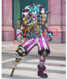 Overwatch OW New Clown Junkrat Hand armor Cosplay Accessory Prop