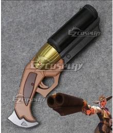 Overwatch OW New Hero Ashe Coach Gun Cosplay Weapon Prop