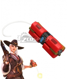 Overwatch OW New Hero Ashe Dynamite Cosplay Weapon Prop
