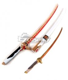 Overwatch OW Nihon Golden Genji Long Sword Scabbard Cosplay Weapon Prop