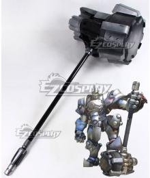 Overwatch OW Reinhardt Wilhelm Rocket Hammer Cosplay Weapon Prop