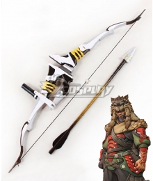 Overwatch OW Shimada Hanzo Lone Wolf Bow And Arrow Cosplay Weapon Prop