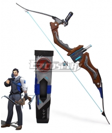 Overwatch OW Shimada Hanzo Scion Hanzo Skin Bow Cosplay Weapon Prop