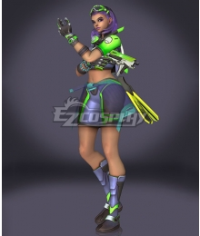 Overwatch OW Sombra Summer Skin Cosplay Costume