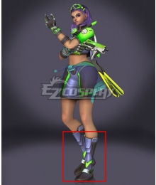 Overwatch OW Sombra Summer Skin Green Shoes Cosplay Boots