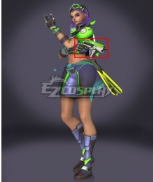 Overwatch OW Sombra Summer Skin Gun Cosplay Weapon Prop
