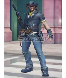 Overwatch OW Storm Rising Skin Jesse McCree Light Brown Cosplay Wig