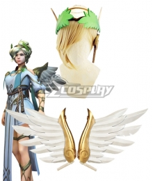 Overwatch OW Summer Games 2017 Winged Victory Mercy Skin Wing Head wear and Earring Cosplay Accessory Prop