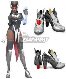Overwatch OW Symmetra Satya Vaswani Magician Silver Gray Cosplay Shoes