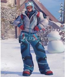 Overwatch OW Zarya Snowboarder Winter Wonderland Skin Cosplay Costume