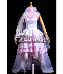 Vocaloid Miku Gorgeous Wedding Dress Lolita Cosplay Costume Deluxe-P2