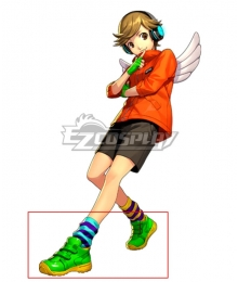 Persona 3: Dancing Moon Night Ken Amada Green Cosplay Shoes