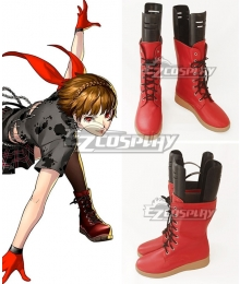 Persona 5: Dancing Star Night Makoto Niijima Red Shoes Cosplay Boots