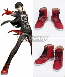 Persona 5: Dancing Star Night Protagonist Akira Kurusu Ren Amamiya Red Cosplay Shoes Cosplay Boots