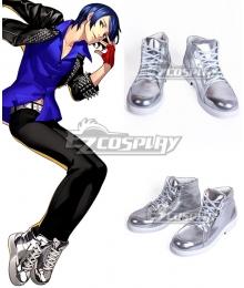Persona 5: Dancing Star Night Yusuke Kitagawa Silver Cosplay Shoes - A Edition