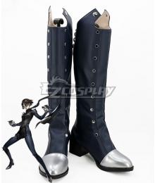 Persona 5 Queen Makoto Niijima Deep Grey Shoes Cosplay Boots - B Edition