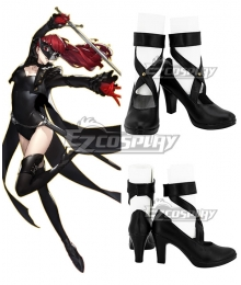 Persona 5 the Royal Kasumi Yoshizawa Black Shoes Cosplay Shoes