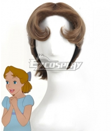 Peter Pan Wendy Darling Brown Cosplay Wig - Wig + Headwear