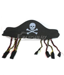 Pirates of the Caribbean Captain Jack Sparrow Pirate Hat A Halloween Cosplay Accessory Prop