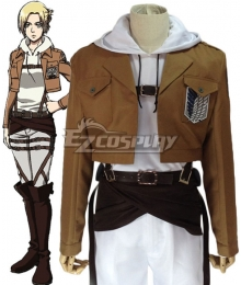 Attack on Titan Shingeki no Kyojin Annie Leonhart Training Corps Cosplay Costume