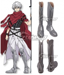 Plunderer Licht Bach Sliver Gray Shoes Cosplay Boots