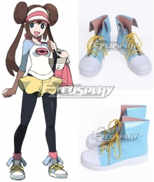 Pokémon Black White 2 Pokemon Pocket Monster Rosa Blue Cosplay Shoes
