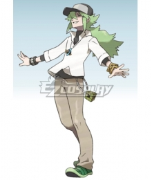 Pokémon Black White Pocket Monster Natural Harmonia Gropius N  Cosplay Costume