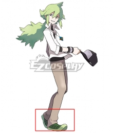 Pokémon Black White Pocket Monster Natural Harmonia Gropius N Green Cosplay Shoes
