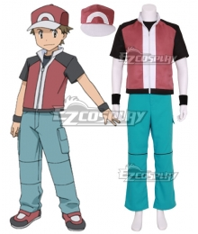 Pokémon Champion Red Cosplay Costume