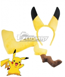 Pokémon Detective Pikachu 2019 Movie Pikachu Ear And Tail Cosplay Accessory Prop