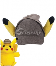 Pokémon Detective Pikachu 2019 Movie Pikachu Hat Cosplay Accessory Prop