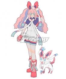 Pokemon Pokémon Sword and Pokémon Shield Sylveon Personification Jumpsuit Cosplay Costume