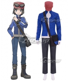 Pokémon XY Pokemon Pocket Monster Calem Cosplay Costume