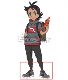 Pokemon 2019 Anime Series Go Black Cosplay Shoes