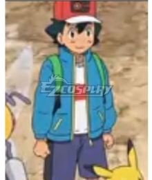 Pokemon Ash Cosplay Costume - Only Coat