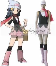 Pokemon Pocket Monster Dawn Cosplay Costume