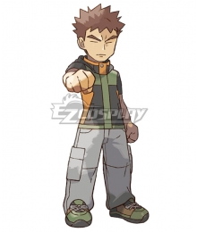 Pokemon Pokémon: Let's Go, Pikachu! Pokémon: Let's Go, Eevee! Brock Cosplay Costume