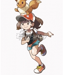Pokemon Pokémon: Let's Go, Pikachu! Pokémon: Let's Go, Eevee! Female Trainer Elaine Cosplay Costume