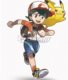 Pokemon Pokémon: Let's Go, Pikachu! Pokémon: Let's Go, Eevee!‎ Male Trainer Chase Cosplay Costume