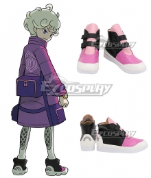 Pokemon Pokémon Sword And Shield Bede Black Purple White Cosplay Shoes