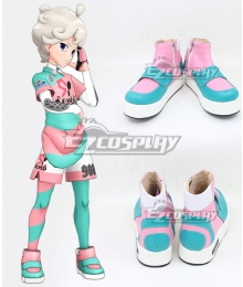 Pokemon Pokémon Sword And Shield Bede Uniforms Blue Green Cosplay Shoes