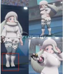 Pokemon Pokémon Sword and Shield  Melony Silver Shoes Cosplay Boots
