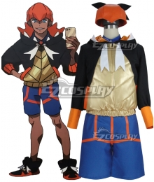 Pokemon Pokémon Sword And Shield Raihan Cosplay Costume - No Glove