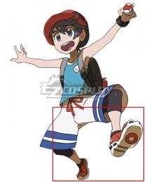 Pokemon Pokémon Ultra Sun and Ultra Moon Elio Red Cosplay Shoes